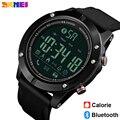 SKMEI Роскошные модные спортивные часы с Bluetooth  мужские часы с шагомером  умные часы с дистанционным управлением  светодиодные цифровые наручн...