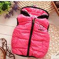 2016 New Children Outerwear Baby Girl Vest  Autumn Children Clothing Waistcoat Cute  Sleeveless Girls Hooded Thicken Vest