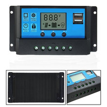 LCD USB Solar Panel Charge Intelligent Controller 12V/24V Battery Auto Regulator(China)