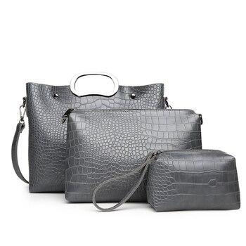 High Quality Crocodile Pattern Leather Women Handbags Large Capacity Casual Composite Bag Fashion Ladies Shoulder Messenger Bags
