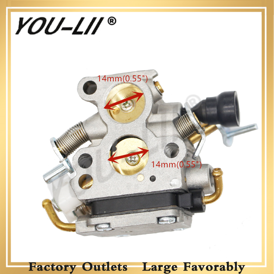 YOULII Carburetor For <font><b>Husqvarna</b></font> 135 <font><b>140</b></font> 435 435e 440 440e Jonsered CS410 CS2240 CS2240S Gas Chainsaw Spares image