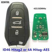 QCONTROL Remote Smart Auto Schlüssel für Peugeot 208 308 508 3008 5008 Reisenden Expert 433 mhz 434 mhz Keyless  gehen