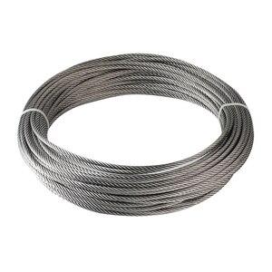 Image 3 - 100 м/рулон высокопрочный 1 мм трос из нержавеющей стали 7X7 Структура кабеля из нержавеющей стали трос для рыбалки