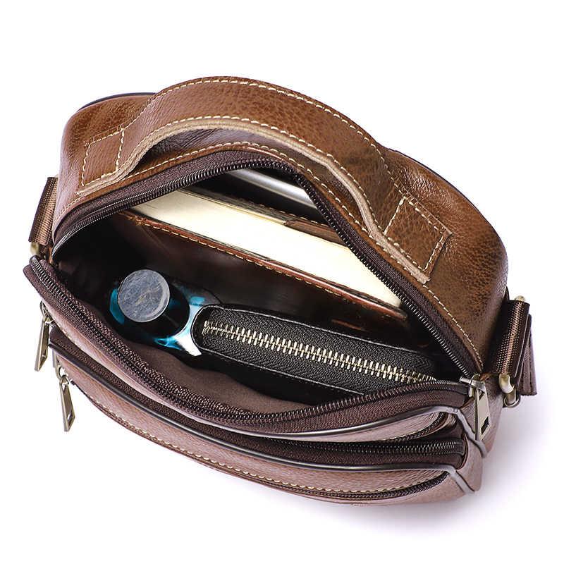WESTAL bolsa de ombro dos homens saco de couro genuíno para homens messenger bags Flap zipper designer masculino Sacos Crossbody bolsas 8318