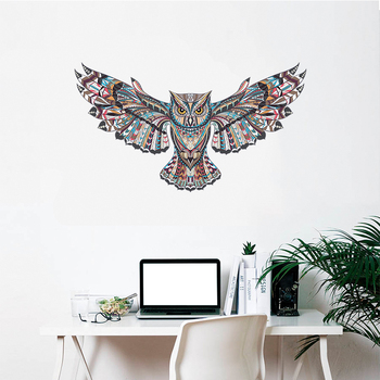 Colorful Owl Spread Winged 1