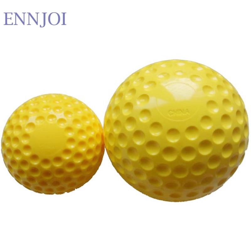 140G Yellow PU Rubber Soft Baseball Machine Baseball Machine Softball Exercise Baseball For Training Exercise Tool