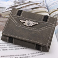 New Arrival Vintage PU Leather Men Wallets Special Design Business Money Package Short Zipper Casual Coin Purse ID Holder Wallet