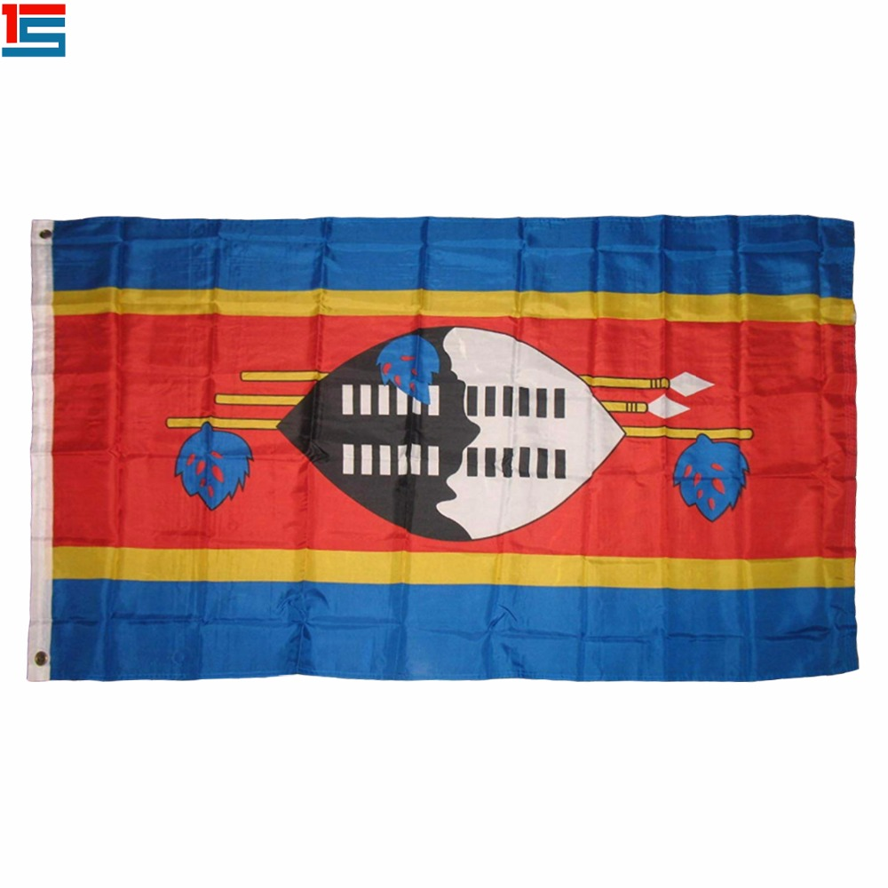 Swaziland Flag Country Banner New Indoor Outdoor 3x5 Eswatini