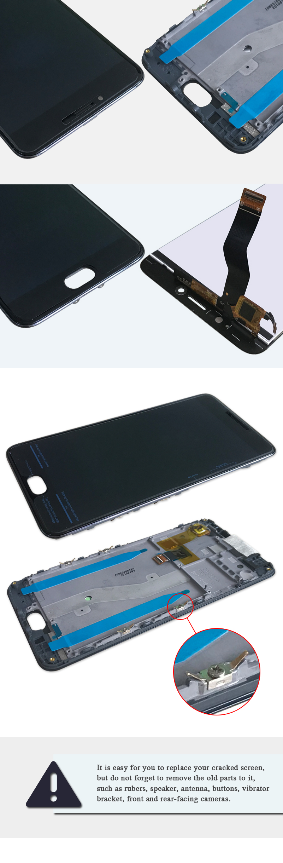 HTB12ipwaiYrK1Rjy0Fdq6ACvVXap 10-Touch Original LCD+Frame For Meizu M3 Note L681H Lcd Display Screen Replacement For Meizu M3 Note L681H Digiziter Aseembly