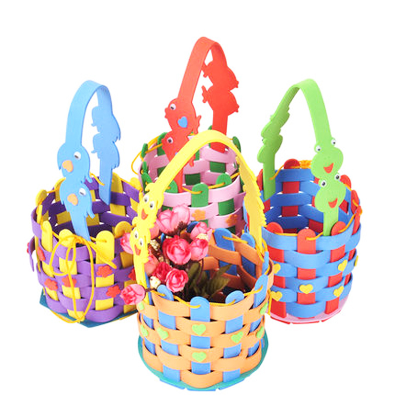 EVA DIY Bags Cute Flower Style Bag Handmade Crafts Cartoon Sewing Backpacks Kids Children Creative Toys for Photo Frame