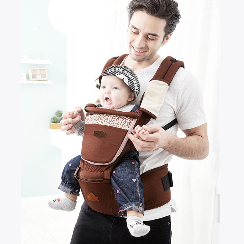 New 1 Pcs Ergonomic Baby Carrier Anti-shock Backpack Hip Seat Baby Infant Detachable Baby Sling Stool Waist Baby 5 Color
