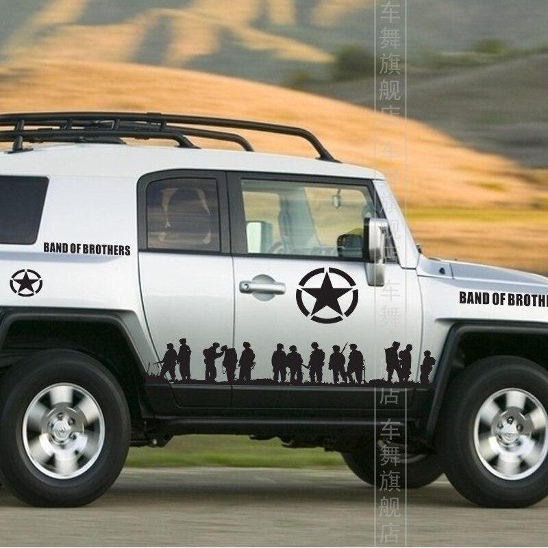 Fj Cruiser Sticker >> Freeshipping Band of Brothers whole body sticker personalized modification decorative reflective ...