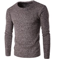 Loldeal Winter Men Sweaters Pullovers Knitting Thick Warm Designer Slim Fit Casual Knitted Man Knitwear Dark gray wine red