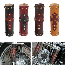 Universal 39 - 41mm Motorcycle Front Fork Protector Shock Absorber Guard Leather Cover for Harley Honda Yamaha YZF 250 CRF CRF25