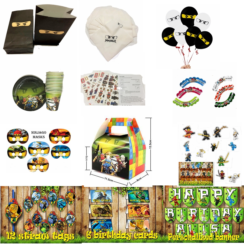 Cake Accessory 24pcslot Ninjago 12pcs Wrappers 12pcs Toppers For