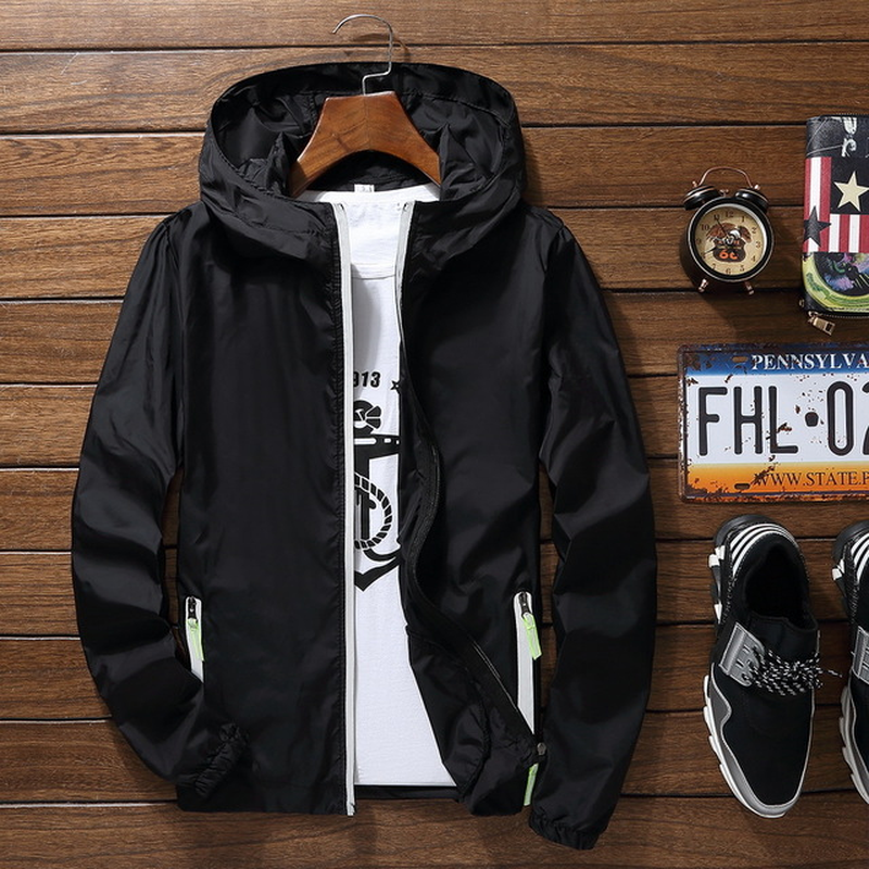 Summer Men's Hood Jacket Windbreaker Sunscreen Quick-Dry Casual Jacket Japanese Streetwear Jaqueta Masculino Streetwear 50JK060(China)