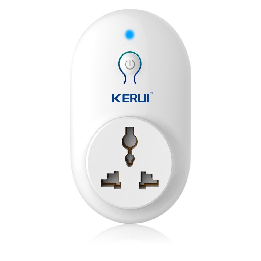 Kerui Wireless EU US UK AU Standard Switch Smart Power Socket 433MHz for Home Security Alarm System Control Smart Power Plug autoeye cctv camera power adapter dc12v 1a 2a 3a 5a ahd camera power supply eu us uk au plug