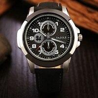 Fashion YAZOLE Watch Men Luxury Brand Men Quartz Watch Leather Strap Watch Relogio Masculino Male Casual
