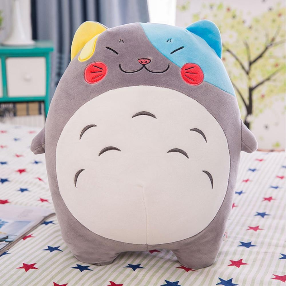 Totoro 40 CM Kawaii peluche douce jouet belle mignon peluche poupée créative TV film chat cadeau aux enfants fille animaux jouets