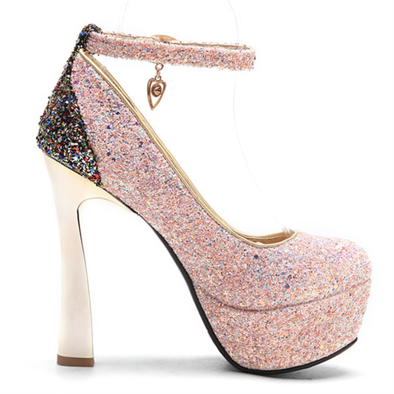Glitter Boucle Rond Femmes Chaussures Profonde Morazora Ciel 34 Haute Bout forme rose Pu Talons Pompes Extrême Grand lavande 44 Plate Peu xqW48BwzF4