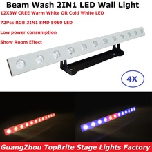 hot deal buy  fast ship 12x3w ww or cw optional led wall wash lights dmx led bar dmx line bar wash stage light with running horse functions
