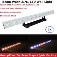 Navio rápido 12X3 W WW Ou CW Opcional LED Luzes De Lavagem de Parede DMX Linha de Lavagem Bar LEVOU Bar DMX Luz Do Estágio Com Cavalo Running Funções Efeito de Iluminação de palco     -