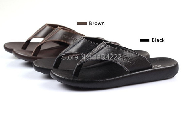 Men's Flip Flop men sandals leather Summer shoes simple & classic flip-flop - Summer's Leisure Shop store