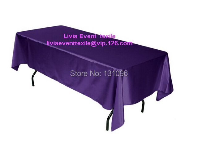 Pictures of home deep purple table cloth.