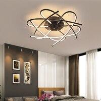 Moderno lustre de iluminação para sala estar quarto fosco cinza/preto lamparas techo avize lustre teto para casa|Lustres| |  -