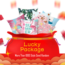 Fuwatacchi Hot Sale Cushion Cover Lucky Package Random Pillowcases Animal Plant Cartoon Throw Pillow 45X45 Square