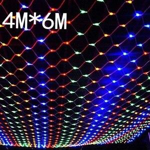 Image 4 - Wodoodporna 4m * 6m netto led świąteczna siatka świetlna led lampki siatkowe lampki ogrodowa nowy rok wesele