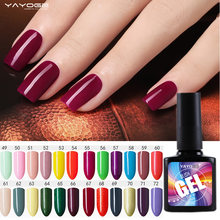 Gel unha polonês levou uv gel verniz Manicure Cor 96 10 ml YAYOGE Semi Permanan Long Lasting Laca Embeber off (49-72)(China)