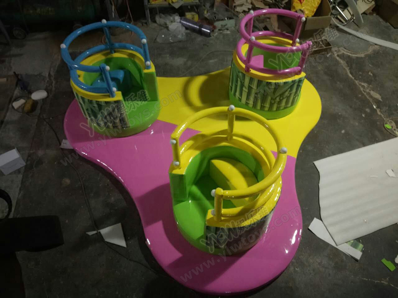 Jouets souples pour bébé, chaise basse tournante pour enfants, aire de jeux souple rotative pour enfants aire de jeux intérieure, équipement d'amusement INA1845