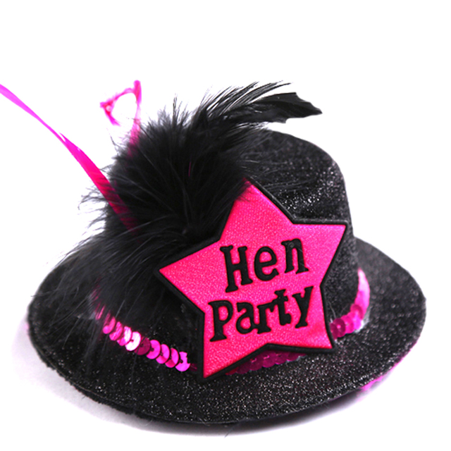 Hen Party black top hat on Hair clip 50% off for 3pcs featured design  wedding bride to be bachelorette event party supplies 183f8bba9261
