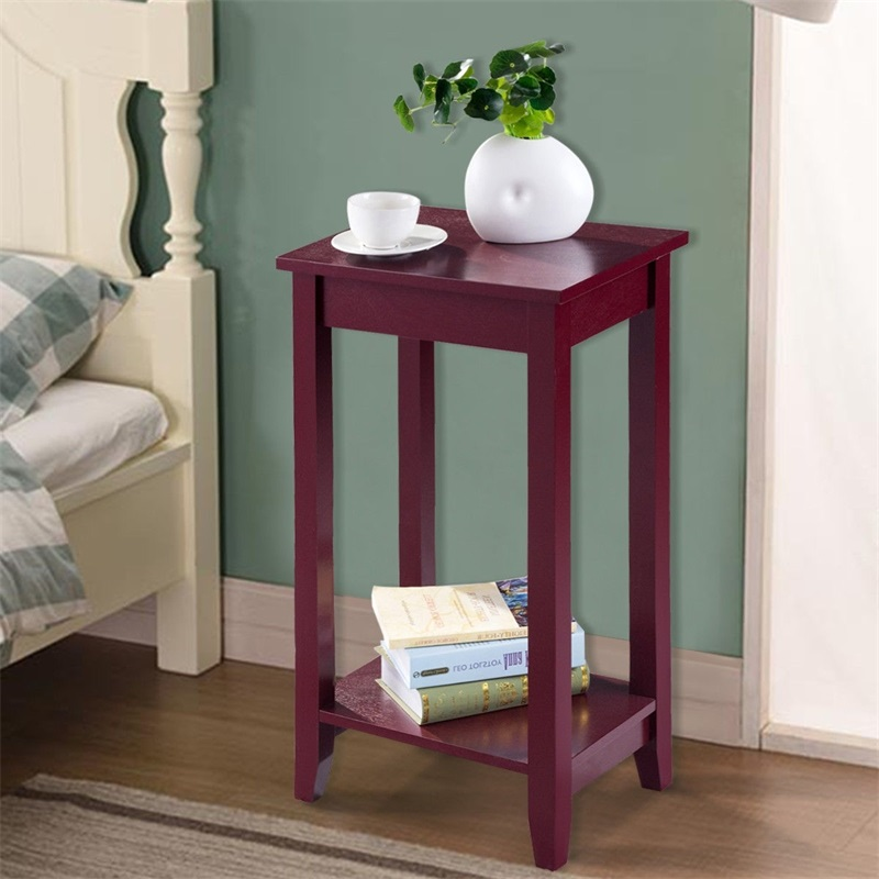 Simple Elegant Tall Strong Wooden Sofa End Table High ...