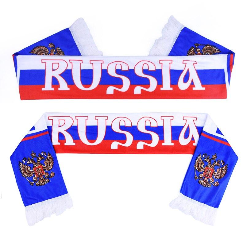 La russie Coupe Du Monde 2018 fans de football Écharpe De La Russie de Football Fan Écharpe Russie Équipe Nationale Écharpe Drapeau Bannière