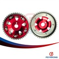 PQY RACING- Free shipping- Adjustable Cam Gear 1pair 2pc  FOR Toyota 3S- GTE MR2 CELICA CALDINA RED PQY6533R