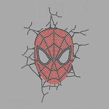 2pc/lot Spiderman Break Through Wallshiny applique patches sticker Hotfix iron on crystal transfers design iron on patches cuetec meteor break 2pc пул 13 681