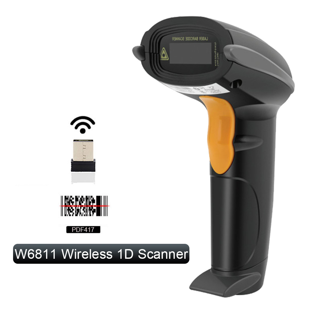 Yanzeo Portable Handheld Wired Wirelress Barcode Scanner 1D QR Bar Code Reader PDF417 IOS Android IPAD Warranty 1 Year