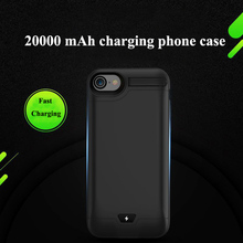 Charger Case Portable External Power Bank Audio Frequency for iPhone 7 8plus Backup Battery cover Kickstand holder  20000 mAh
