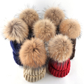 High quality winter hats for women and men real raccoon fur beanie knitting wool casual warm ear protectors gorros cap 7 colors