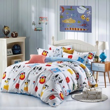 Home Textile 4pcs/set Bedding Set For Kids Duvet Cover Bed Sheet Pillow Case 100% Cotton Cartoon Dalmatians Image 2 size L/XL