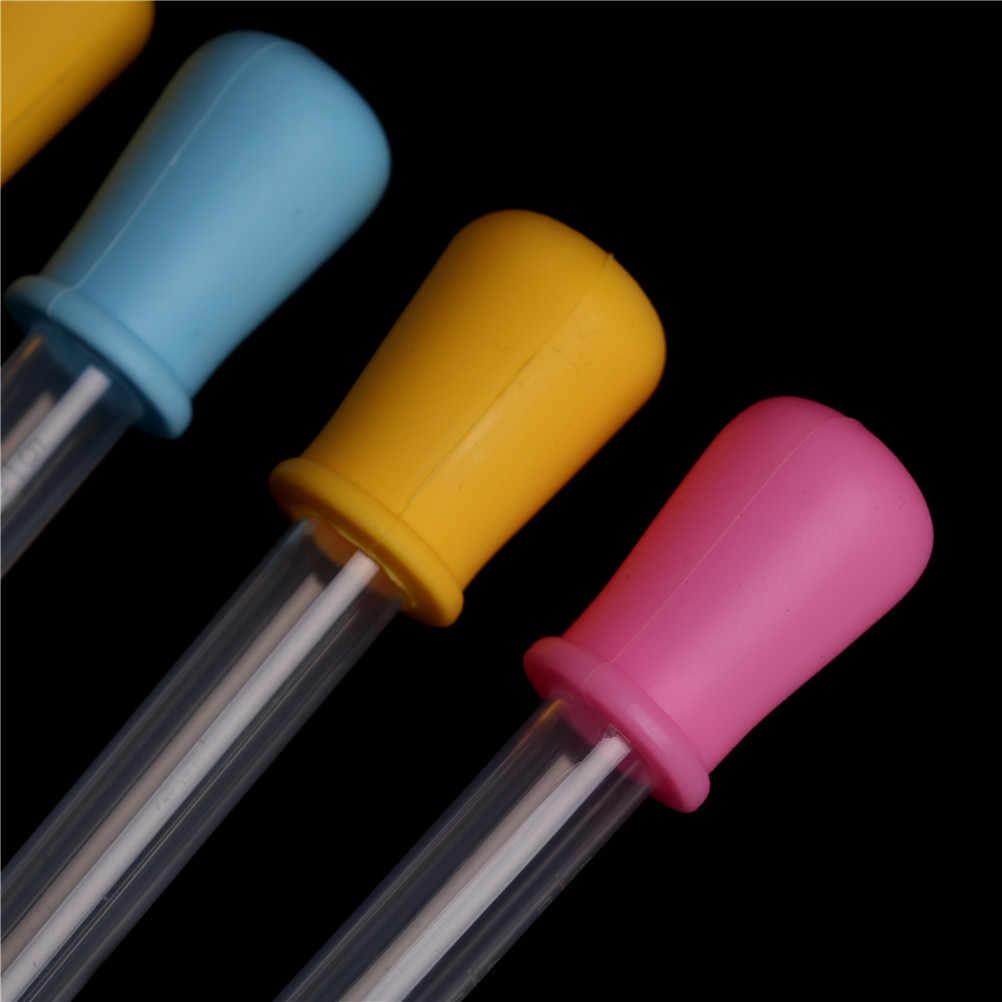 2 sztuk 12*2cm silikonowe plastikowe karmienie medycyna ciecz ucho oko absolwent wkraplacz 5ml dla laboratorium szkolne dostarcza kolor losowo