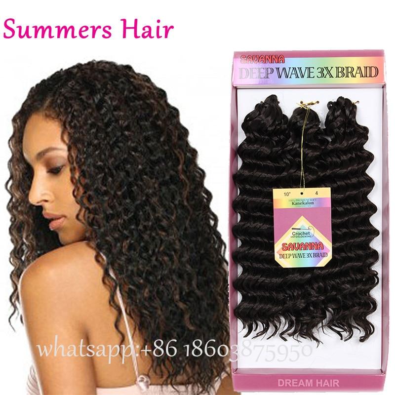Freetress Deep Twist Tree Braids Loose Wave Crochet Braids Havana