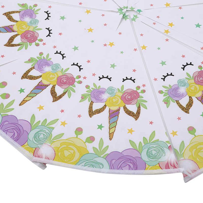 1 комплект милый рисунок единорога баннер день рождения Единорог вечерние Висячие декоративная бумага для Декор для детского дня рождения вечерние принадлежности