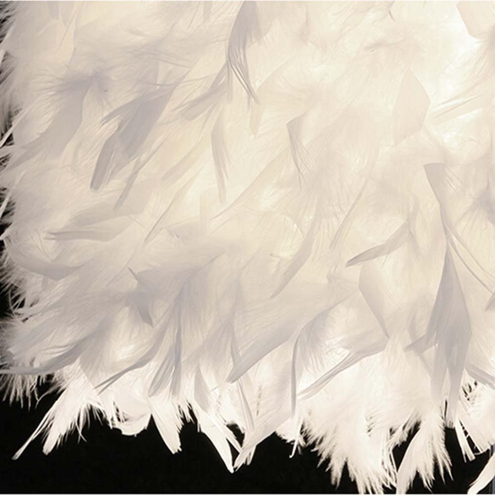 Feimefeiyou Bedside Reading Room Sitting Room Heart Shape Feather Crystal Table Lamp for bedroom Light art deco home planetarium