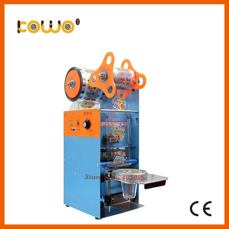 ce RoHS plastic manual cup sealing machine electric 300-400 cups/hour cup sealer bubble tea sealing machine food processor dmwd manual handle cups sealing machine hand electric drink sealer pressure lid sealing maker bubble milk tea shop closure cup