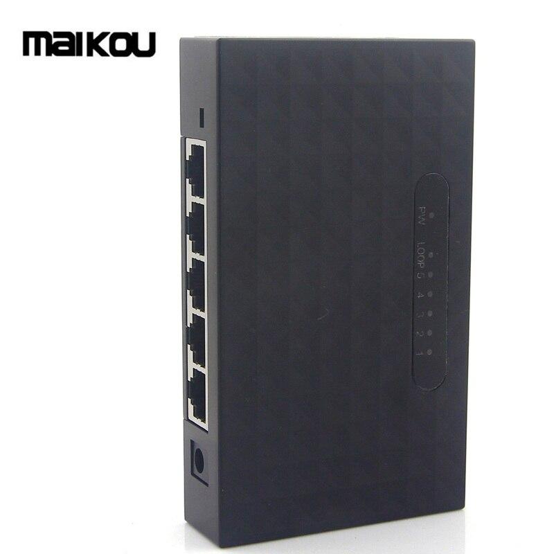 Maikou 5-port Rj45 10/100/100 0 Mbps Ethernet Lan Netzwerk Schalter Schrecklicher Wert Kvm-switches