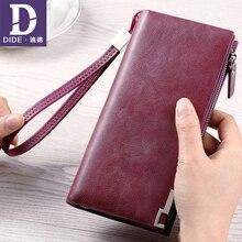 DIDE Echtes Leder Frauen Geldbörsen Luxusmarke Design Hohe Qualität Mode Mädchen Geldbörse Kartenhalter Lange Kupplung Handtasche