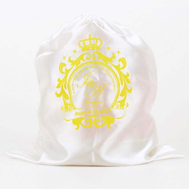 Wholesale Promotional colorful Virgin Hair Bags With Drawstring Satin Hair Packaging Bag Silk Drawstring